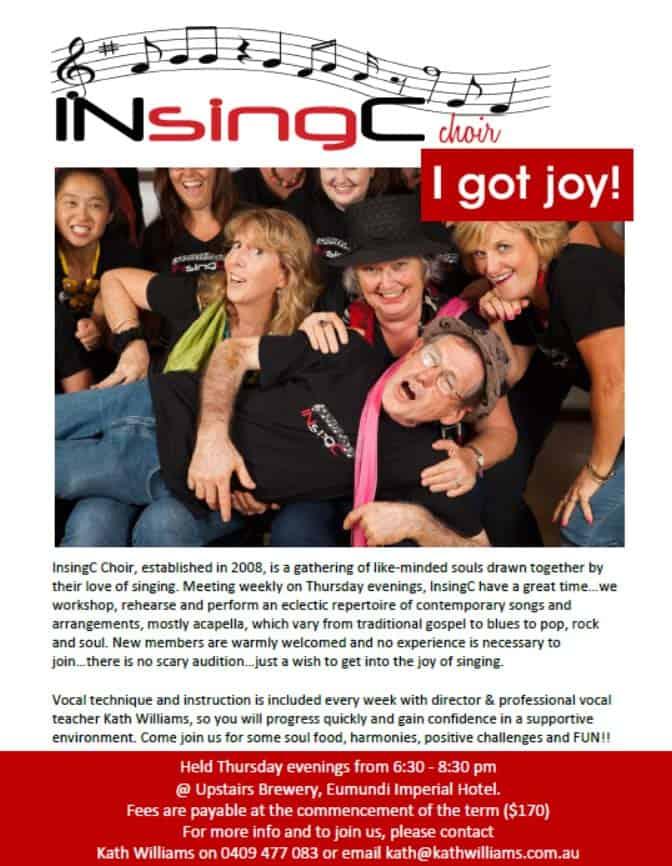 Sunshine Coast Choir - Download the InSingC pdf